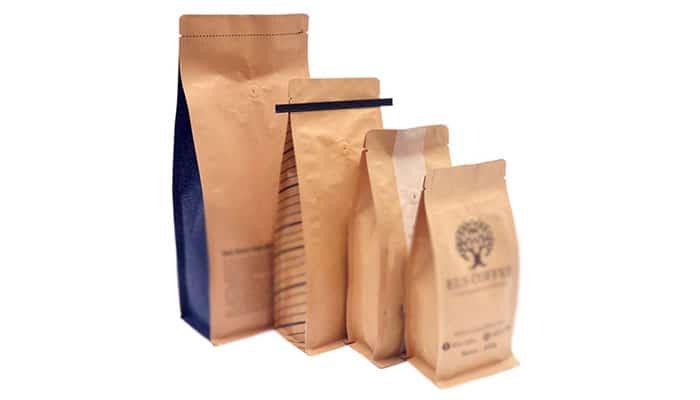 Kraft Paper Coffee Bag Plastic